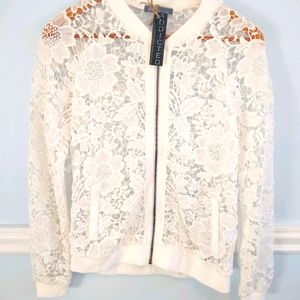 Lacey zippered jacket